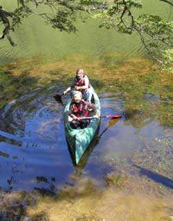 Canoe trips for everyone ..never is too late to enjoy