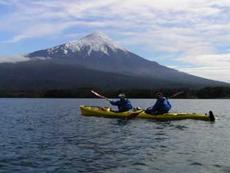 sea kayaking Llanquihue  lake