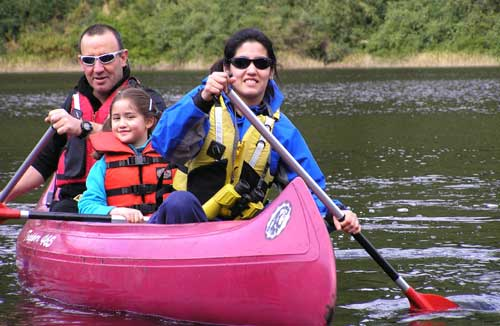 Canoe trips for the family and friends in Puerto Varas