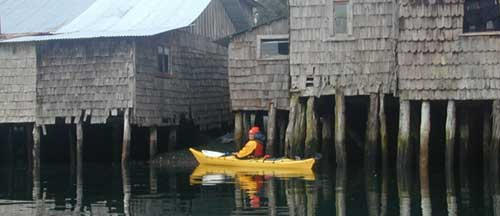 Sea Kayaking in Chiloe - palafitte